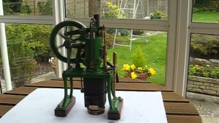 Small scratch built model rider-ericsson hot air pumping engine