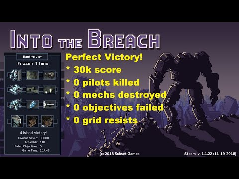 Into The Breach: 30k Perfect Victory Hard (Frozen Titans)
