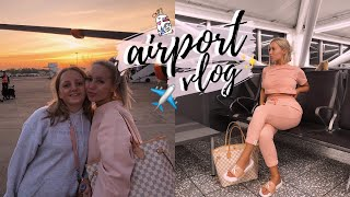 COME TO THE AIRPORT WITH MY FAMILY! TRAVEL VLOG | ELLE DARBY