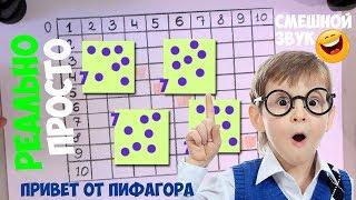 Таблица Пифагора - выучить таблицу умножения ЛЕГКО (смешной голос)