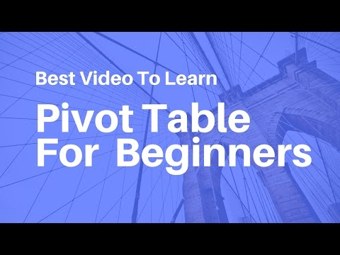 Pivot Table In Excel For Beginners || Hindi