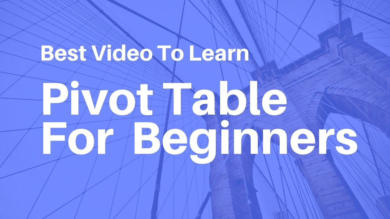 Pivot Table In Excel For Beginners Hindi Youtube