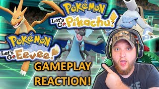 PICKING PIKACHU OR EVEE IS ONLY THE BEGINNING GAMEPLAY TRAILER REACTION (POKEMON LET'S GO)