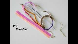 DIY Bracelets Out Of Hot Glue Gun And Beads - So Easy - Day 1 of 5- Day Bracelets DIYs