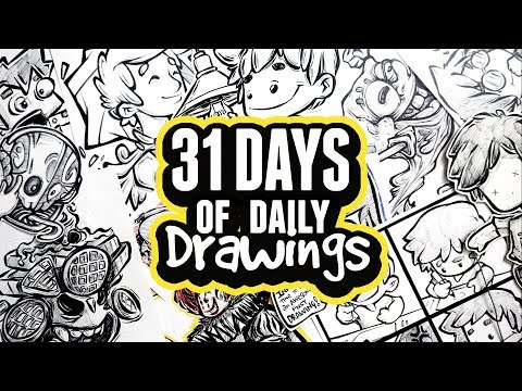 A Tour of my INKTOBER Drawings