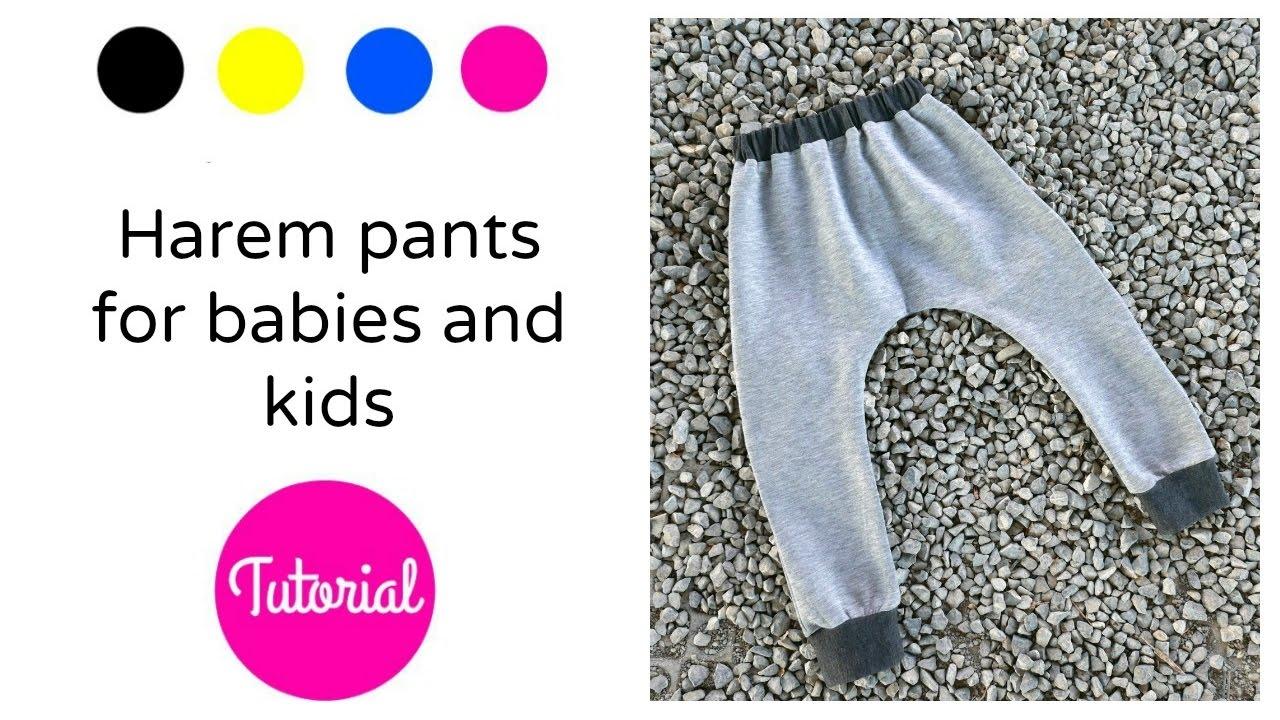 DIY Cómo hacer pantalones harem para niños - YouTube