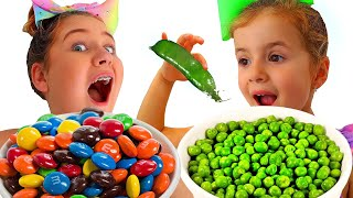 Ruby and Bonnie Learn to Eat Healthy Food - Funny Kids Video