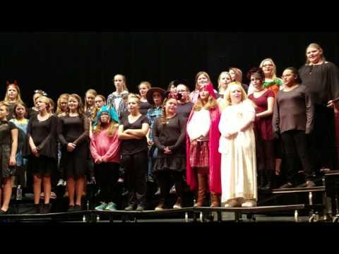 East Hickman Middle School Choir Halloween performance