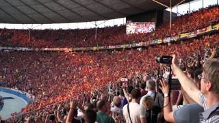 UEFA Champions League 2014/2015 Final - Olympiastadion - Berlin. FC Barcelona anthem.