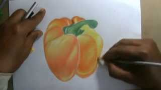 How to Draw 3D Tomato with Simple Pencils