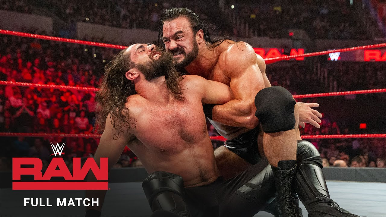 FULL MATCH - Seth Rollins vs. Drew McIntyre: Raw, January 21, 2019 (Full Match)