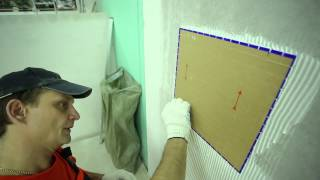 4. Укладка: Укладка мозаичной плитки. Крепс Усиленный Белый(Мозаика на стене в ванной (и не только) - это красиво. Однако процесс укладки мозаичной плитки несколько..., 2014-05-16T14:51:16.000Z)