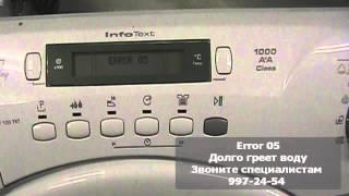 Ошибки стиральной машины Candy(, 2013-07-25T20:26:36.000Z)