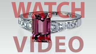 r5792 Purple tourmaline with step cut calibre ring by Leon Megé