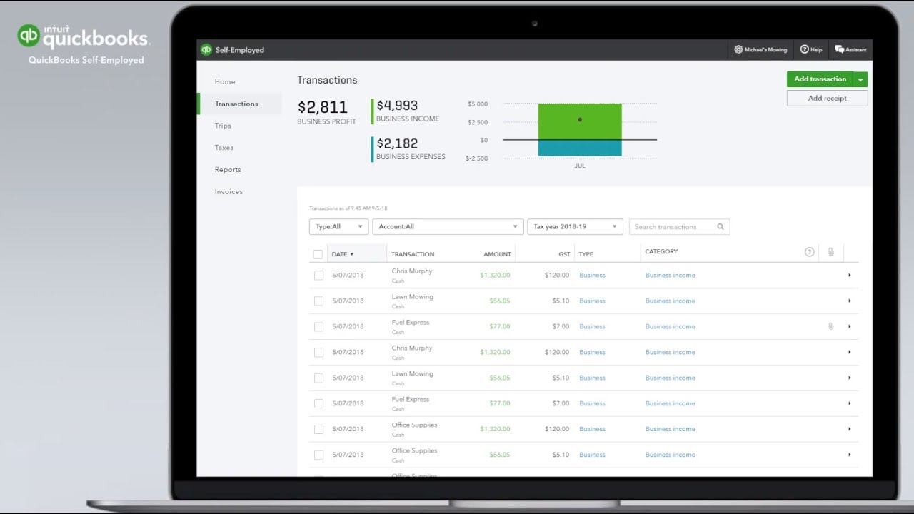 How To Add Receipts Expenses To Quickbooks Self Employed On The Web