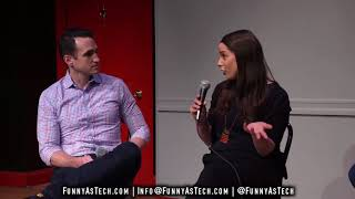 Tech Ethics! Funny as Tech live panel show with Robyn Caplan, Nir Eyal, and Jess Brown