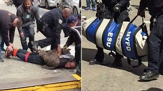 DAMN: NYPD Duct Tapes & Puts Man Still Alive In A Body Bag [FULL]