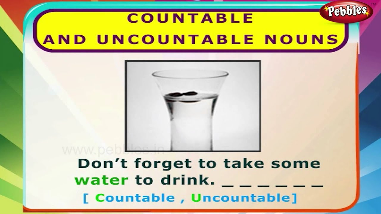 Countable And Uncountable Nouns English Grammar Exercises For Kids