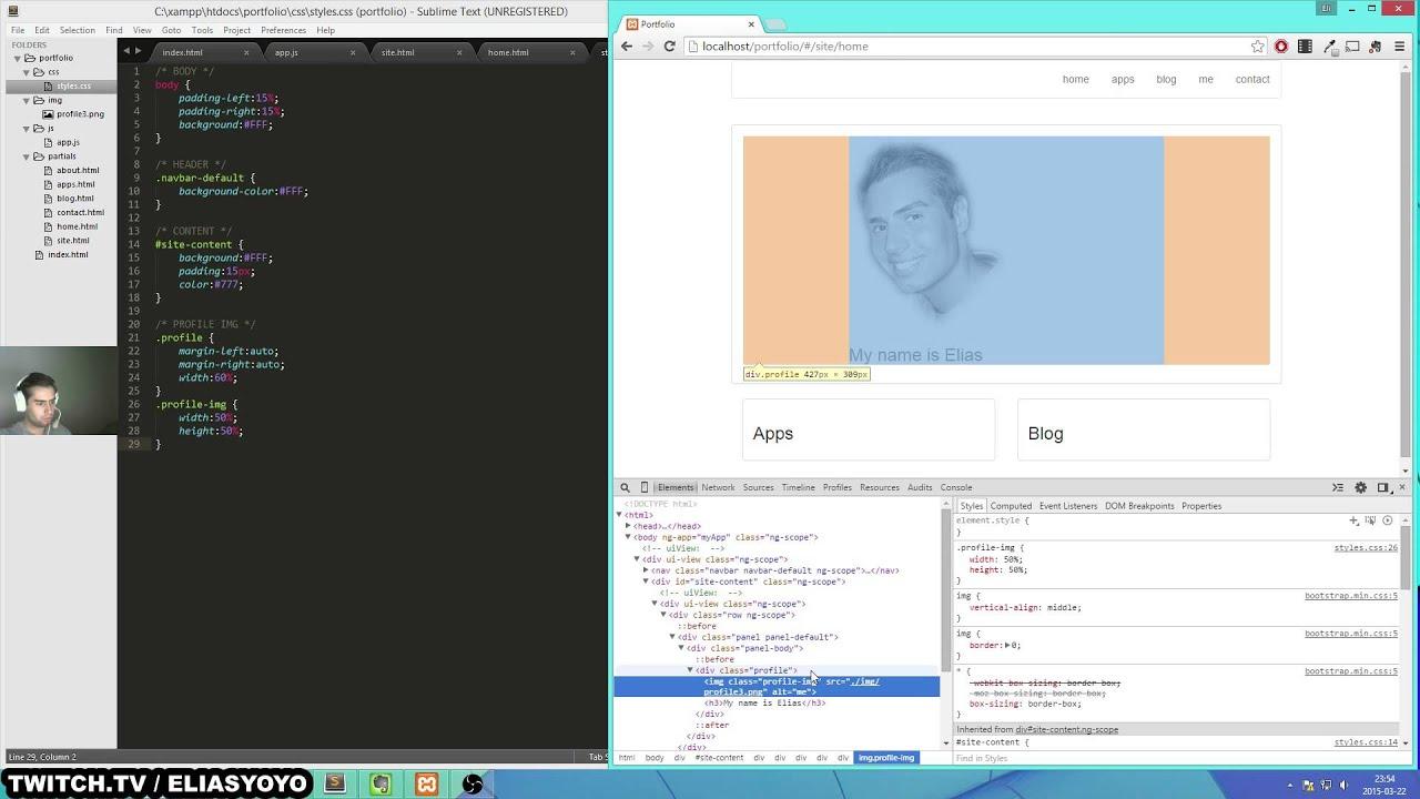 stream creating a portfolio angularjs and bootstrap stream creating a portfolio angularjs and bootstrap