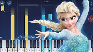 Disney's Frozen - Let It Go - Easy Piano Tutorial