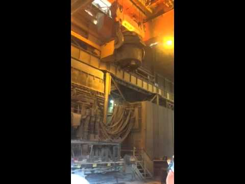 Pacific Steel Auckland New Zealand last ladle ever Sept 2015