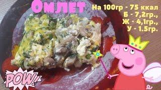 Омлет с грибами | ПП ужин