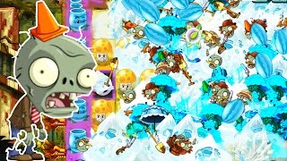 Plants Vs Zombies 2 - MASSIVE  WAVES ENDLESS Challenge Big Head Zombies Pinata Party! PvZ 2