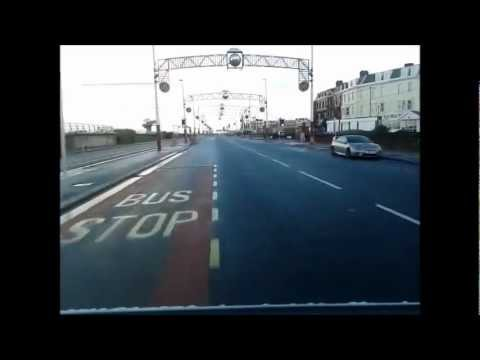 BLACKPOOL PROMENADE DRIVING NORTH FROM ST ANNES TO SOUTH PIER