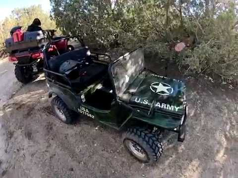 Mini Jeep 125cc Off Road Go Kart Test At Hungry Valley Atv Park