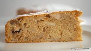 """Пирог яблочный """"Еврейский"""". Без молочных продуктов. Влажный, ароматный, вкусный"""