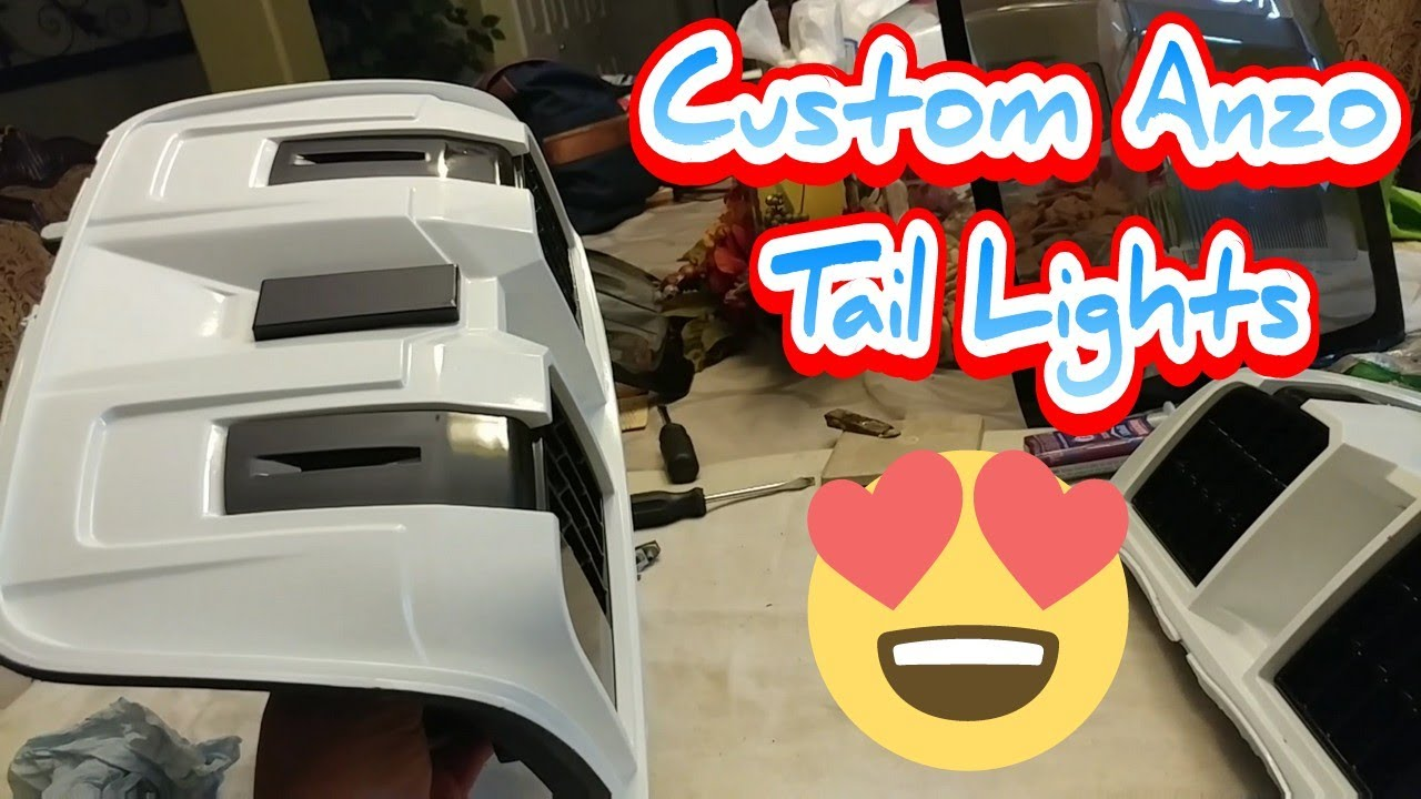 2014 Silverado Custom #Anzousa Tail lights #ColorMatched - YouTube