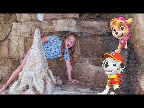 Paw Patrol Hunt with Assistant looking for Rubble and Marshal and Skye