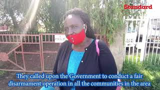 Section of Turkana residents protest harassment by security Personnel flushing out bandits in Isiolo