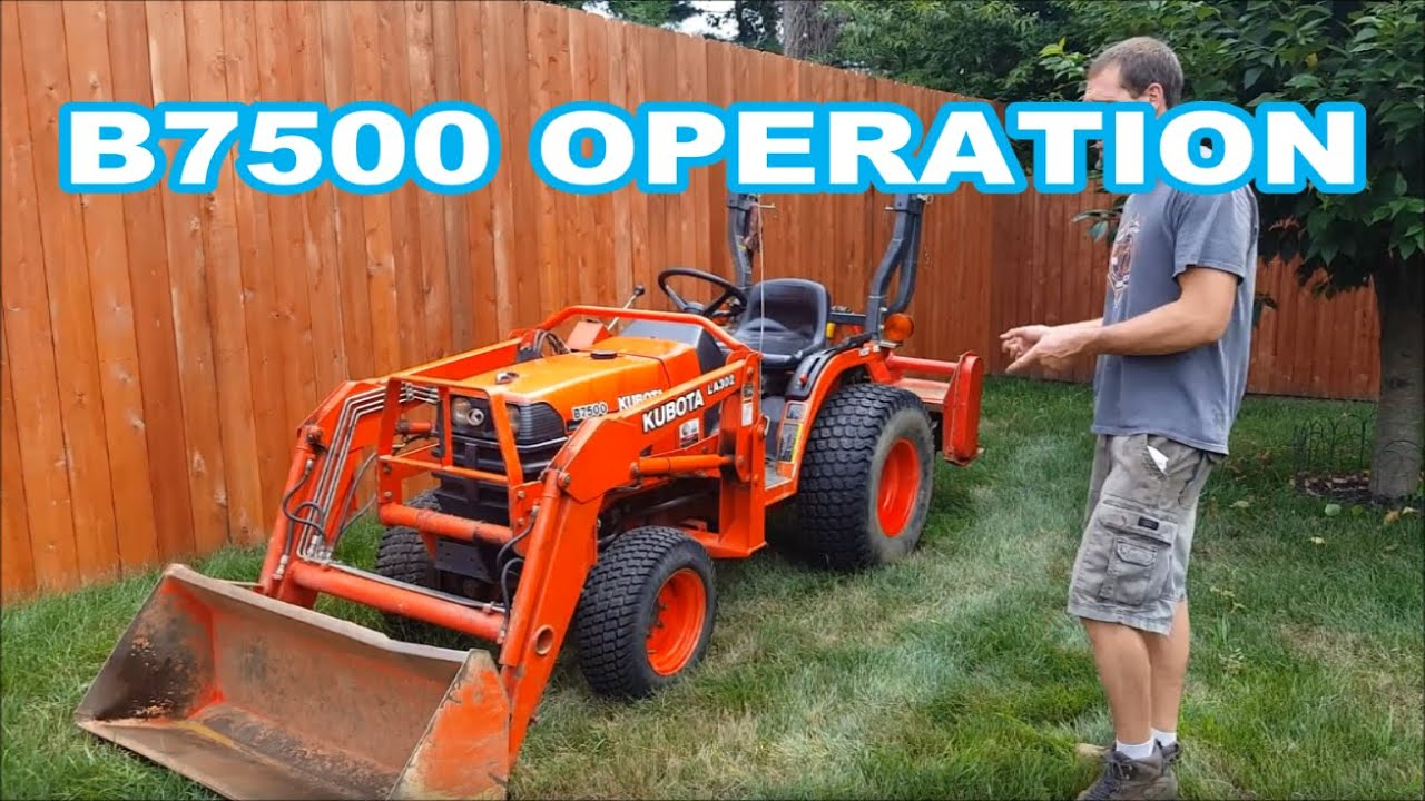 hight resolution of kubota b7500 operation overview instructional