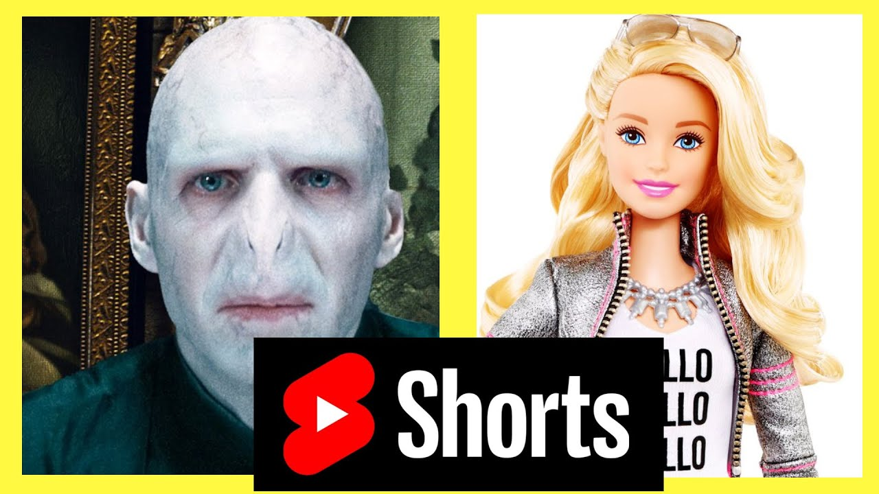 Voldemort is getting surgery to look like as Barbie! the result is so scary!😉🤐😱 #shorts