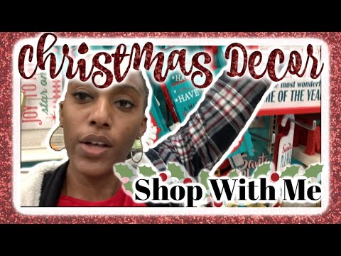 Christmas Decor Shop With Me/  Marshalls, Micheal's, Home Goods and Target