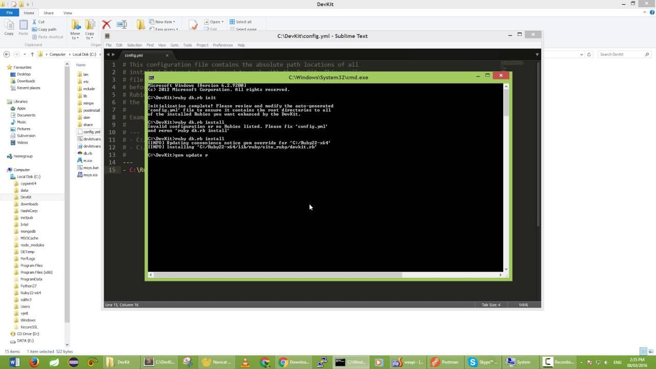 install Ruby DevKit