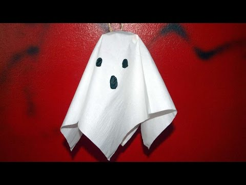 How To Make A Hanging Paper Ghost - DIY Crafts Tutorial - Guidecentral