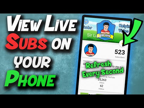 How to view Live Sub Count for Youtube on Your Phone (Android)