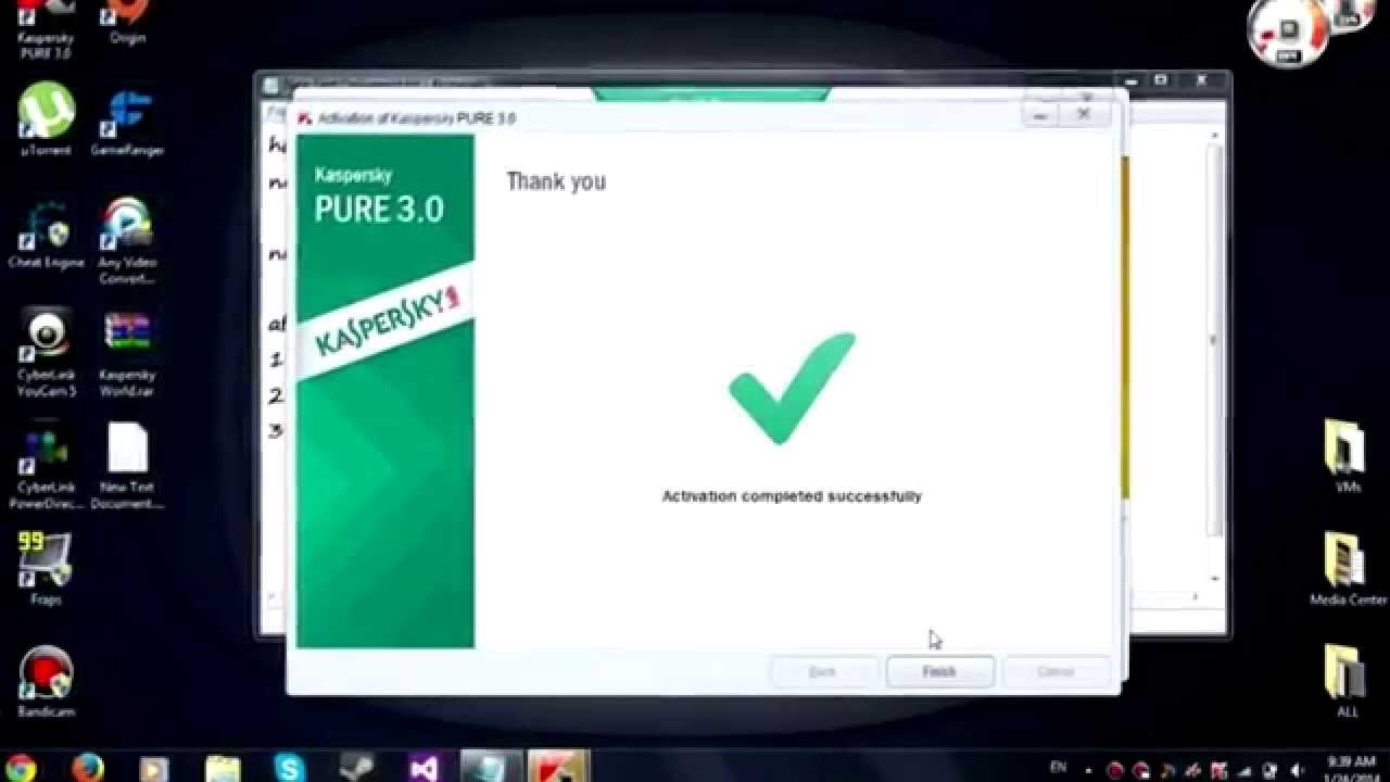 Kaspersky pure 3.0 key activation 2014 calendar
