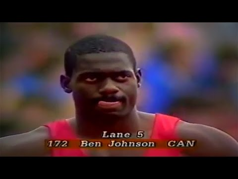 How fast was Ben Johnson in 200m ?