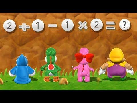 Mario Party 9 Step It Up - Kamek vs Yoshi vs Birdo vs Wario Master Difficulty| Cartoons Mee