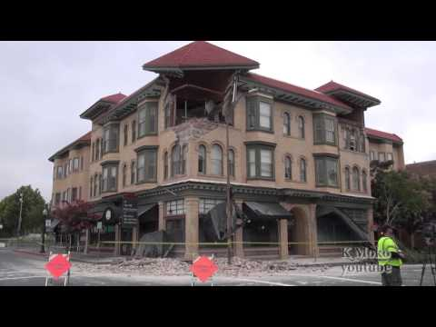 Earthquake distruction in Downtown Napa California