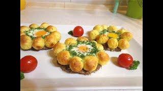 Красивый ужин из картофеля и фарша!  Вкусное сытное блюдо! 👍