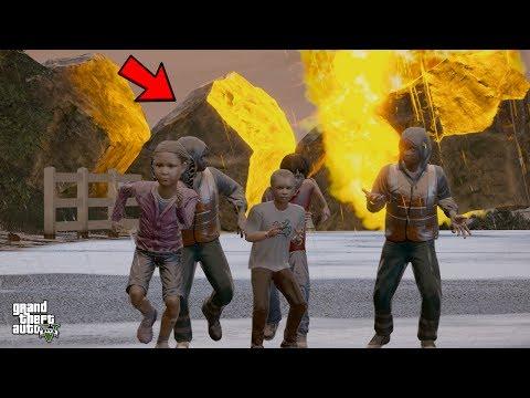 INSANE METEOR SHOWER HITS LOS SANTOS! (GTA 5 Mods For Kids)
