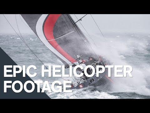 Epic aerial footage of the fleet | Volvo Ocean Race