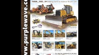 Construction equipment auction | December 29, 2016 | Purple Wave