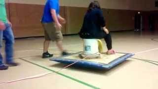 Teacher's Epic Reaction To Student Made Hovercraft