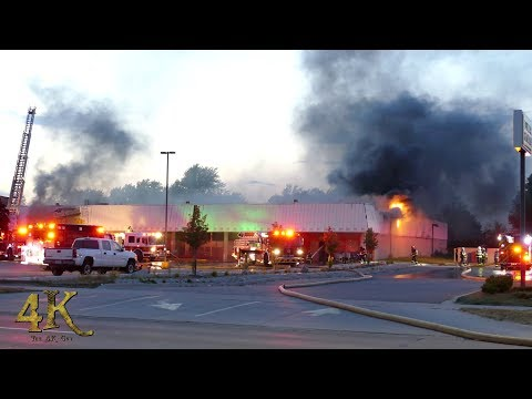 Melvindale: Second alarm fire damages Dollar Tree store 7-4-2018