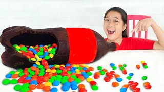 Làm Chocolate Hình Chai Nước ❤ Bài Học Uống Nước Lọc Tốt Cho Sức Khỏe - Trang Vlog